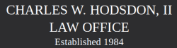 CHARLES W. HODSDON, II  LAW OFFICE logo